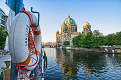 Berliner Dom over the Spree river, Germany Royalty Free Stock Photography