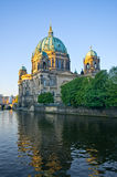 Berliner Dom over the Spree river, Germany Stock Photo