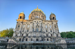 Berliner Dom over the Spree river, Germany Stock Photos