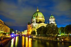 Berliner Dom overview. In Berlin at the night time Stock Images