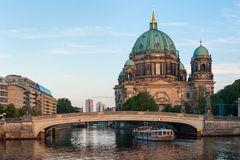 Berliner Dom and River Spree in Berlin Royalty Free Stock Photography