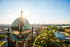 The Berliner Dom and River Spree Royalty Free Stock Photos