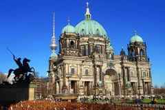 Berliner Dom, the famous historical cathedral of Berlin. Royalty Free Stock Photo