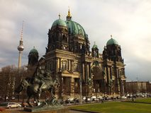Berliner Dom and tower Stock Photos