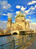 Berliner Dom. In the winter - Germany Stock Image