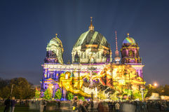 Berliner Dome illuminated at Festival of Lights in Berlin Stock Image