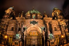 Berliner Dome night view. Berlin, Germany Stock Image