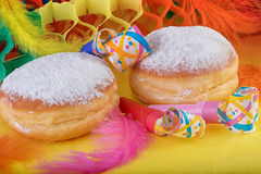Berliner Donuts Doughnut or Krapfen Festive Decoration Stock Photos