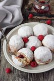 Berliner ( donuts ) with jam filling Stock Photography