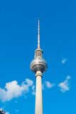 Berliner Fernsehturm. Famous TV broadcasting tower in downtown Berlin, Berliner Fernsehturm is one of the most famous landmarks of Berlin, Germany Stock Photography