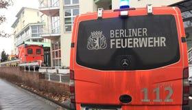 Berliner Feuerwehr-brandweerkorpsvrachtwagen Royalty-vrije Stock Foto