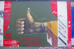 Berliner Mauer, Berlijn, Duitsland Royalty-vrije Stock Foto's