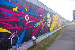 Berliner Mauer, Berlijn, Duitsland Stock Afbeeldingen