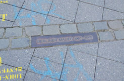 Berliner Mauer, Berlin Germany. Place of the Berlin wall from 1961-1989 Stock Photo
