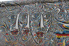 Berliner Mauer. Malerei an der East Side Gallery Royalty Free Stock Image