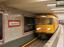 Berliner subway arrival Royalty Free Stock Image