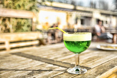 Berliner Weisse. In green ordered in a beergarden at a sunny day Stock Images