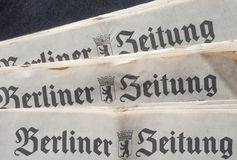 Berliner Zeitung Stock Photography