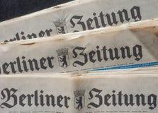 Berliner Zeitung Royalty Free Stock Photos
