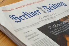 Berliner Zeitung newspaper Royalty Free Stock Image
