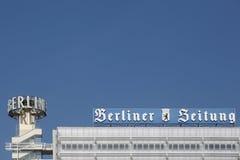Berliner Zeitung que constrói em Berlim, Alemanha Fotografia de Stock Royalty Free