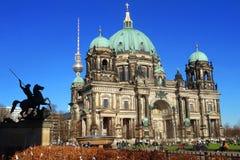 BerlinerDom, den berömda historiska domkyrkan av Berlin Royaltyfri Foto
