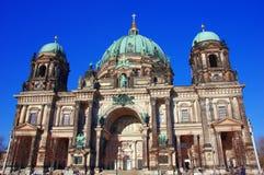 BerlinerDom, den berömda historiska domkyrkan av Berlin Royaltyfri Bild