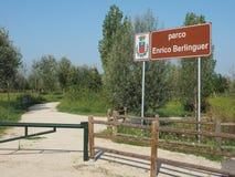 Berlinguer-Park in Settimo Torinese Lizenzfreie Stockbilder