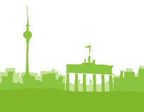 Berlino, abstrakt dell'orizzonte Fotografia Stock