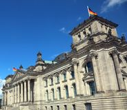 Berlino,B, Germany - August 16, 2017: Palace of the German parliament called reichstag in the city of Royalty Free Stock Images