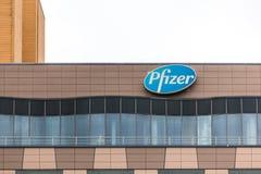 Berlino, Brandeburgo/Germania - 24 12 18: pfizer firma dentro Berlino Germania immagini stock