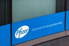 Berlino, Brandeburgo/Germania - 24 12 18: pfizer firma dentro Berlino Germania fotografia stock