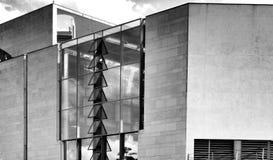Berlino che fa un giro turistico Sguardo artistico in bianco e nero Fotografie Stock