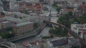 Berlino dalla torre della TV stock footage