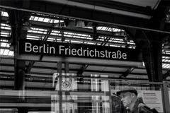 Berlino Friedrichstraße 01 - Berlino 07 2018 fotografie stock