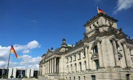 Berlino, Germania - 20 agosto 2017: Palazzo del parliame tedesco Fotografie Stock