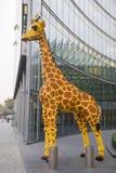 Berlino, Germania: Giraffa della memoria di Legoland Fotografia Stock
