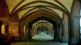 Berlino, Germania: ponte famoso di Oberbaum Immagine Stock Libera da Diritti