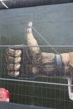 BERLINO, GERMANIA - 15 SETTEMBRE: Graffiti di Berlin Wall veduti il 15 settembre 2014, Berlino, galleria del lato est ` s un 1 3 Fotografie Stock Libere da Diritti