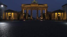Berlino, porta di Brandeburgo video d archivio