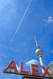 Berlins Alex célèbre Image libre de droits