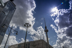 Berlins Fernsehturm Stockfotografie