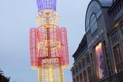 ¼ Berlins Kurfà rstendamm in der Weihnachtszeit Stockbilder