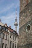 Berlins Nikolai Quarter stockbilder