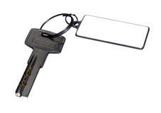 berlock isolerad key white Arkivfoton