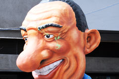 Berlusconi. A allegoric mask of the president berlusconi at the carnival of putignano Royalty Free Stock Images