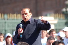 Berlusconi electoral meeting. Electoral meeting of Silvio Berlusconi in Turin, Italy. Italian elections 2008 Royalty Free Stock Photos