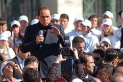 Berlusconi, Italiaanse verkiezingen Stock Afbeelding