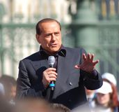 Berlusconi portrait Stock Photography
