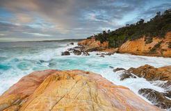 Bermagui海岸线 免版税图库摄影